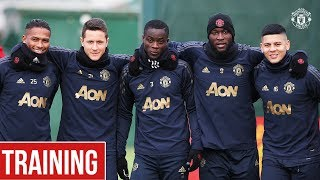 Manchester United train ahead of Valencia Champions League trip | UEFA Champions League