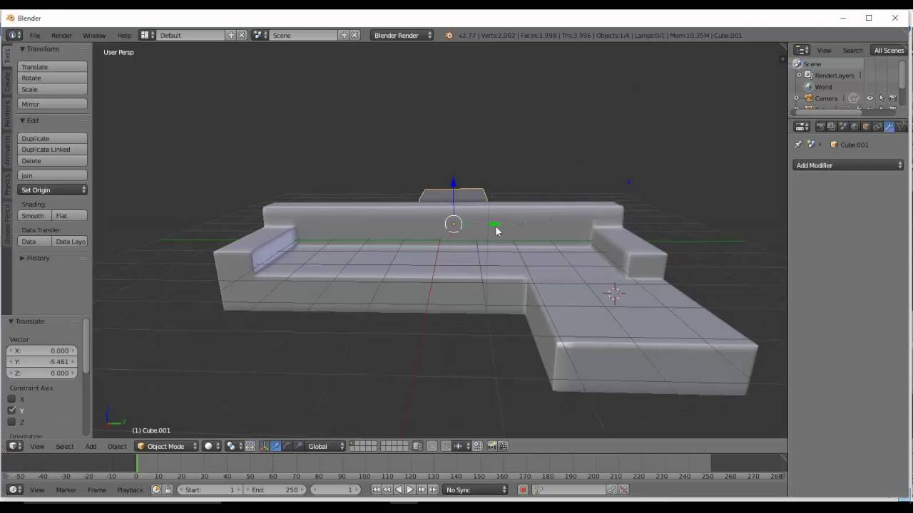 Modelling A Luxuroius Couch In Blender YouTube