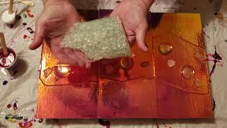 Resin Art  How to use Holographoc Paper in your Art #Paintitforward2019