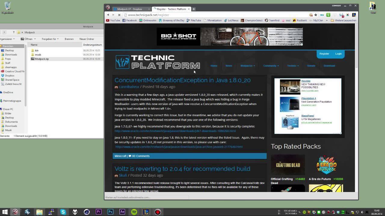 Minecraft Modpack Erstellen Techniclauncher GERHD TeamBoring - Minecraft server erstellen mit mods 1 8