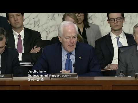 Cornyn Presses Yates, Clapper in Hearing on Russian Election Interference