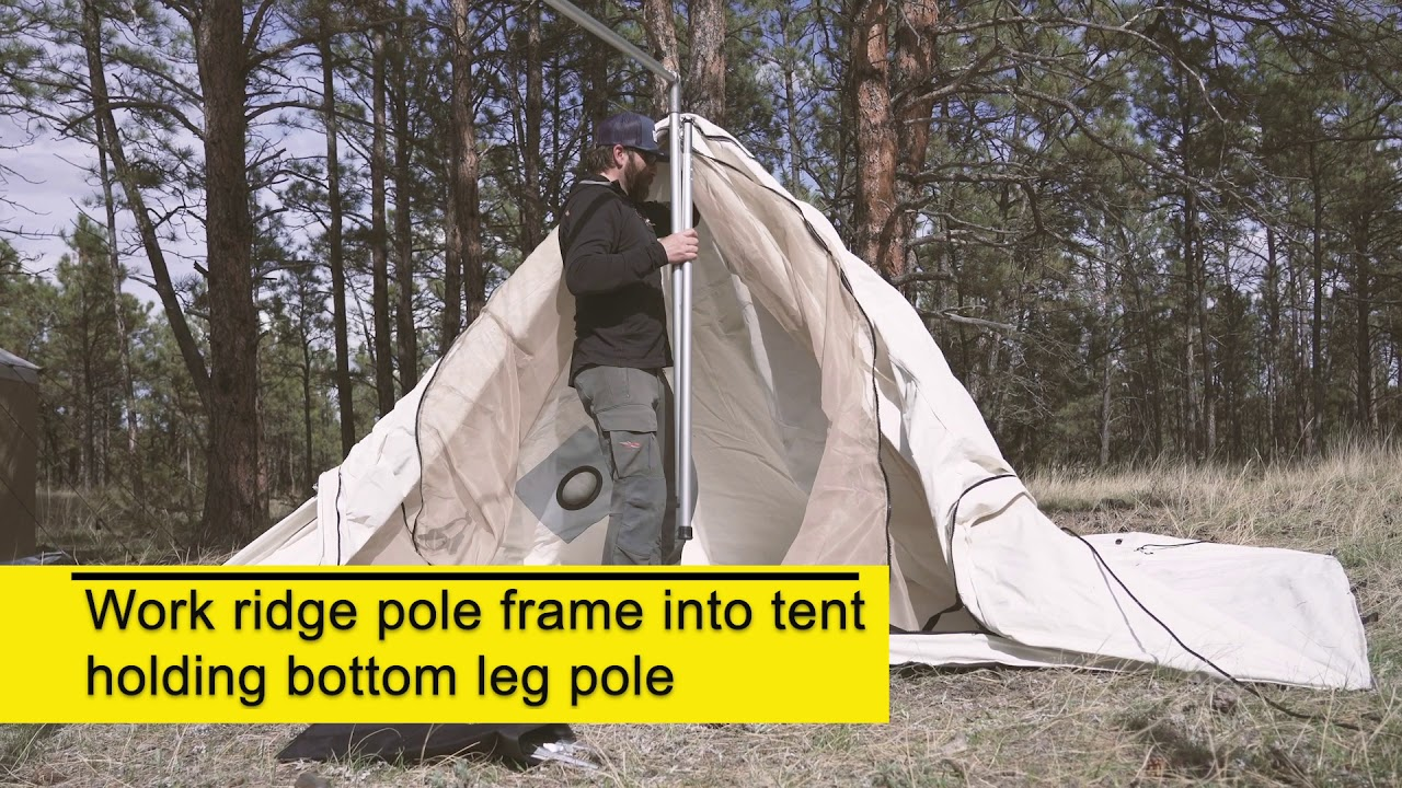 Wedge Tent Setup Tutorial