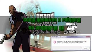 Grand Theft Auto San Andreas- Como resolver poblema vorbisfille