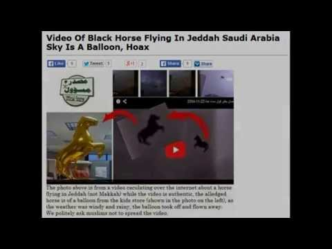 Hoax Flying Horse Miracle over Saudi Arabia Debunked