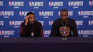 Andrew Wiggins & Teague Postgame Interview | Rockets vs Timberwolves - Game 3 | 2018 NBA Playoffs
