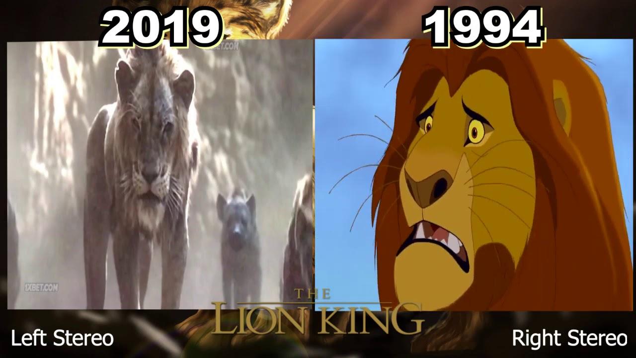 The Lion King 20 vs 20 Scene Death Of Mufasa   YouTube