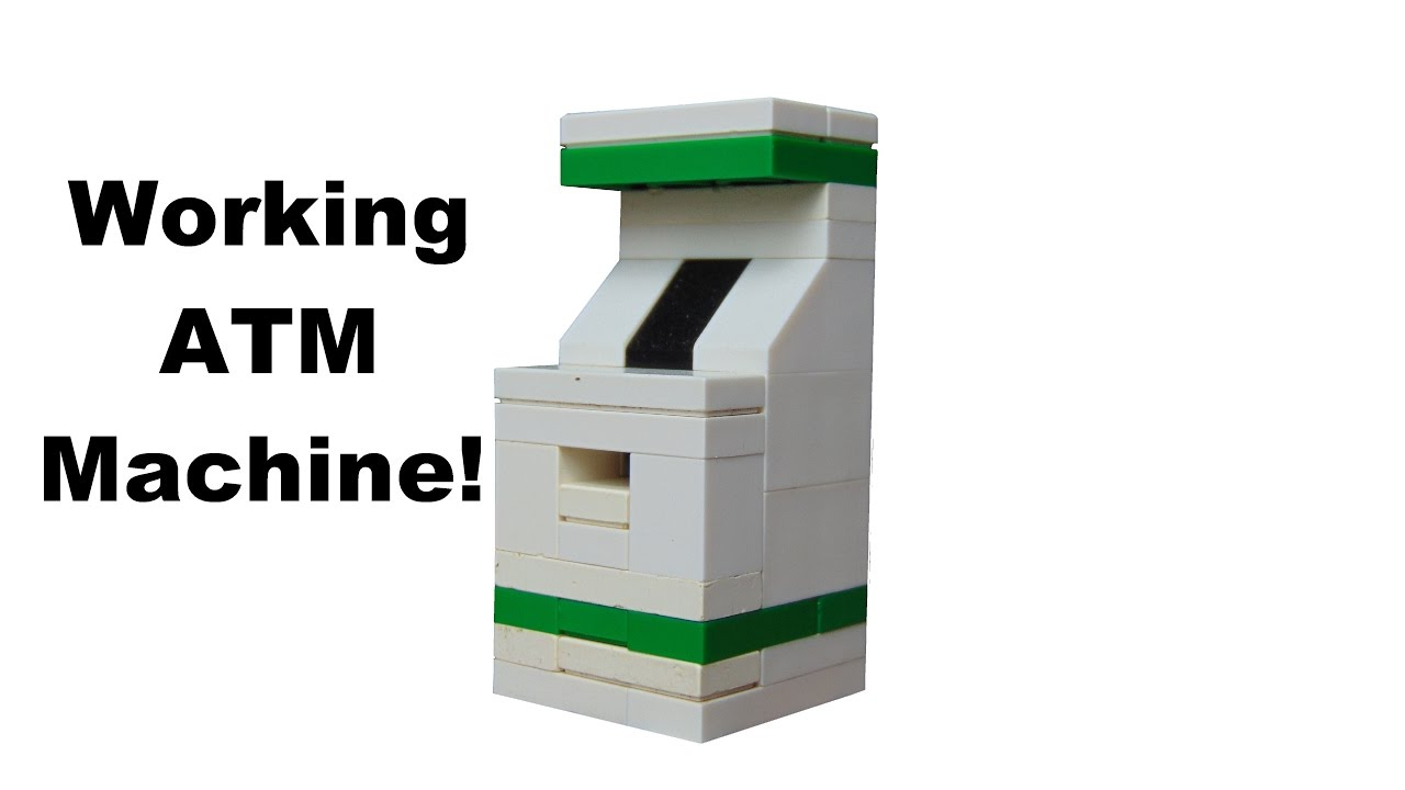 How To Build A Functioning Lego Atm Machine Youtube