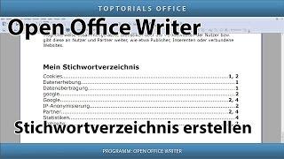 Stichwortverzeichnis / Index erstellen (Open Office Writer)