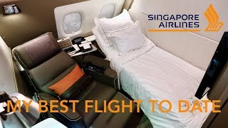 Singapore Airlines A380 New Suites   SQ861 Hong Kong to Singapore