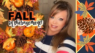 FALL 🍁DECORATING IN THE BASEMENT - DECORATE WITH ME!