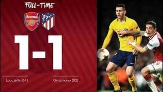 Highlight Arsenal Vs Atletico Madrid Leg 1 (1-1) Semi Final Europa League