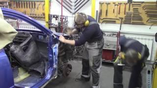 Кузовной ремонт. КИА РИО, день первый. Body repair.