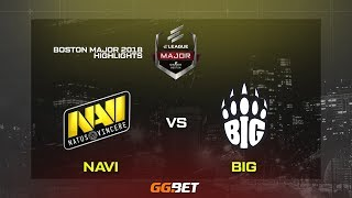 NAVI VS BIG » BOSTON MAJOR 2018 HIGHLIGHTS!