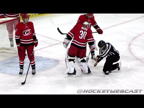 The Most Bizarre Hockey Goal - Hurricanes vs Coyotes - March 22, 2018 (Dual-Feed)