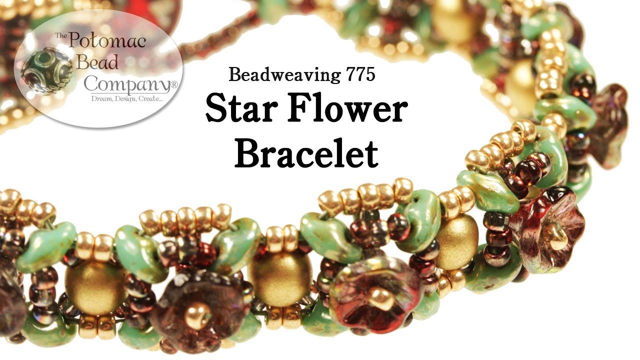 beadweaving flower bracelet doovi