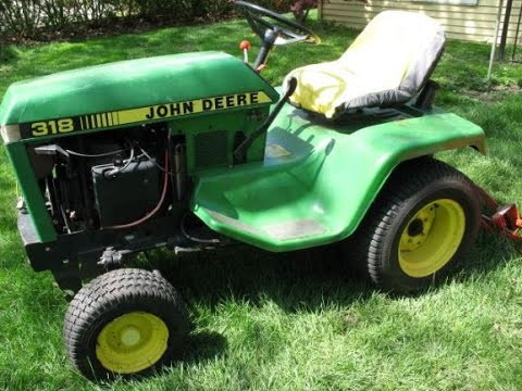 John Deere 318 Lawn And Garden Tractor Cleanup And Disassembly For Future Repairs. My Playlist No 4
