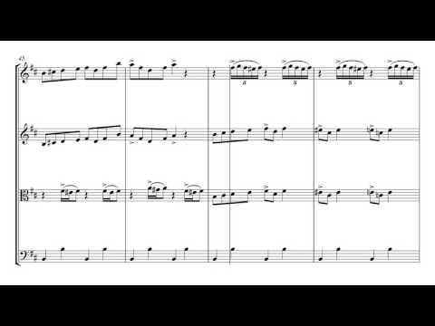 Grieg In the Hall of the Mountain King | String Quartet Sheet Music