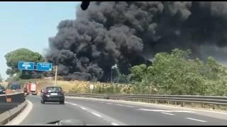 Incendio a Roma Puntina