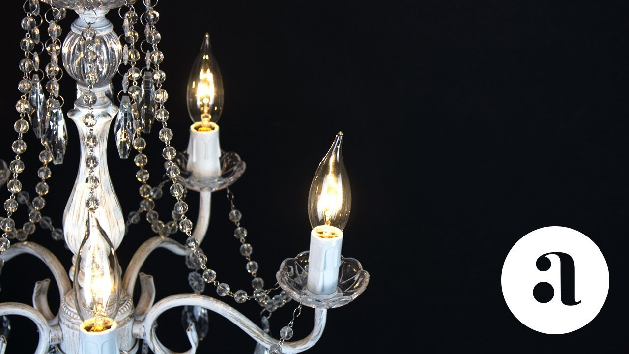 Elizabeth 5 Light Whitewashed Crystal Chandelier Product Video ...