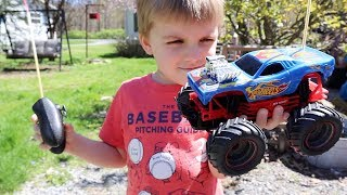 AWESOME HOT WHEELS RC MONSTER TRUCK SURPRISE!
