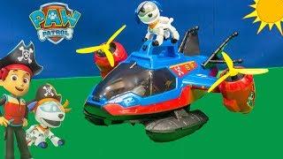 PAW PATROL Nickelodeon Pirate Patroller Captain Hook Steals Pirate Patroller and Sea Patroller Toys