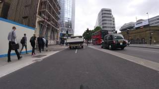 London Cycle lanes are not for vans | EJ61 TKC