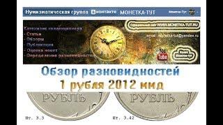 1 рубль 2012 ммд Обзор разновидностей Редкие монеты