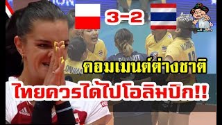 ความคิดเห็นชาวต่างชาติหลังไทยแพ้โปแลนด์ 2-3 เซต ในศึกโอลิมปิก รอบคัดเลือก