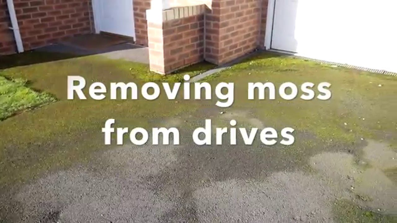 How To Remove Moss On Drives And Patios With Natural