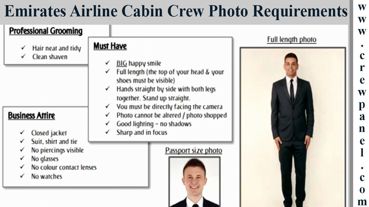 emirates cabin crew photo requirements for males | emirates cabin