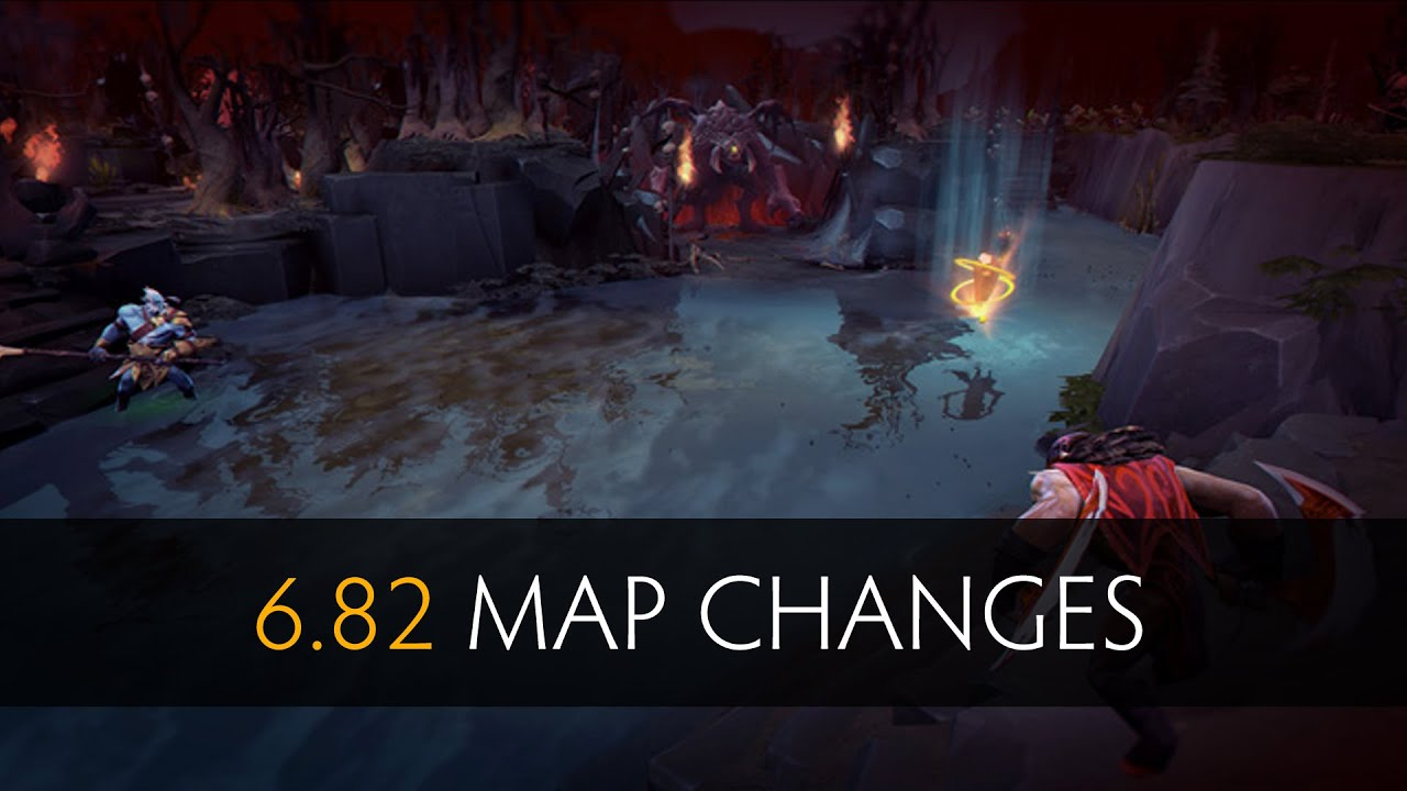 dota 2 6 82 map changes old vs new youtube