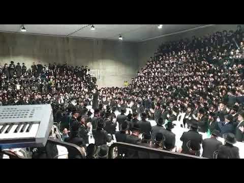 אלפים בהילולת ה'בת עין' עם רבי אלימלך בידרמן