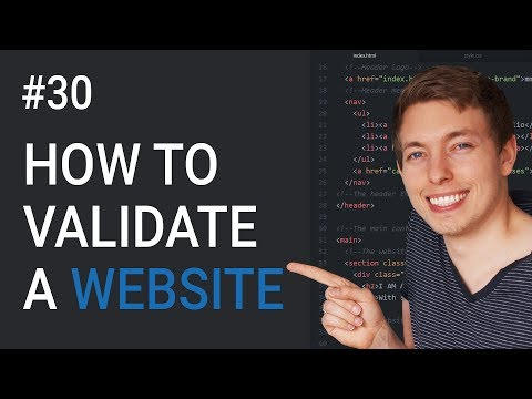 30: How to Validate a Website   Check Website for Errors & Bugs   Learn HTML & CSS   HTML Tutorial