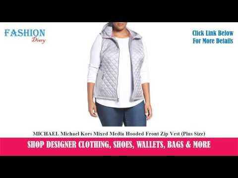 ★★★-michael-michael-kors-mixed-media-hooded-front-zip-vest-(plus-size)-★★★