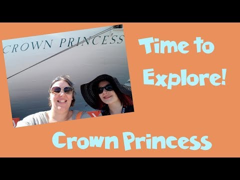 Exploring the Ship! Day 1 Crown Princess Cruise Vlog [ep5]