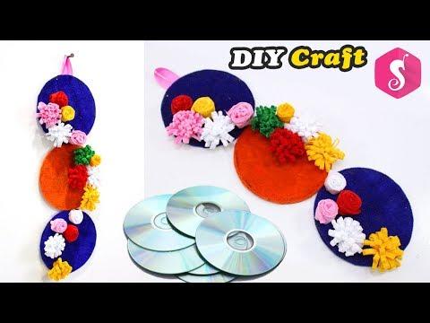 Old CD/DVD craft idea | Easy DIY Craft | Wall Showpiece for Room Decor