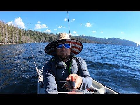 Huntington lake California kayak fishing on my new hobie  and shooting some guns