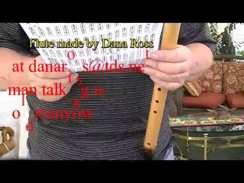 Hallelujah Part 1 How to Play on a Native American Flute Falcon Flutes and Drums