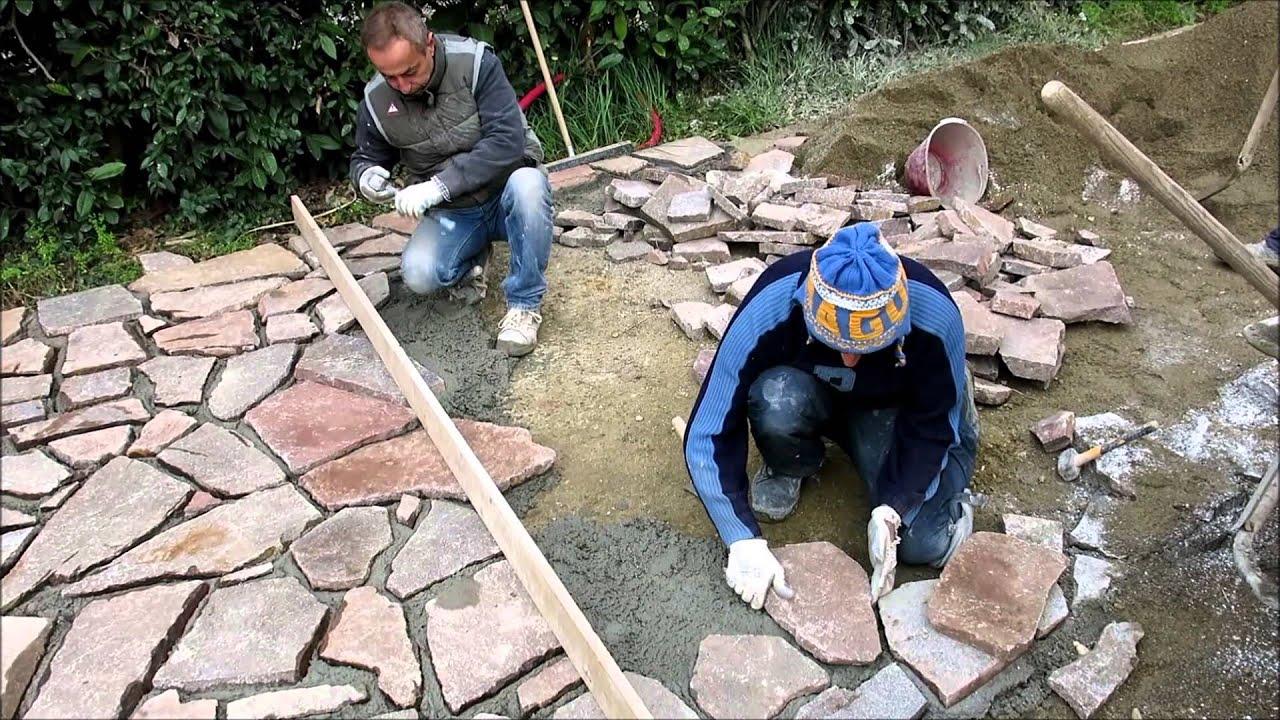 Edilarc pavimentazione in porfido delle dolomiti youtube - Pavimentazione giardino senza cemento ...