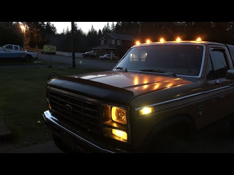 Ford F Series 1980 1986 Cab Light Install Youtube