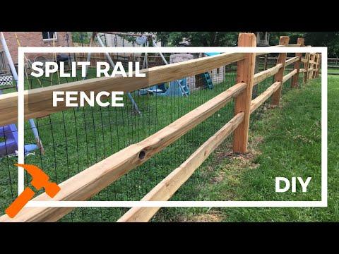 Installing A Split Rail Fence You