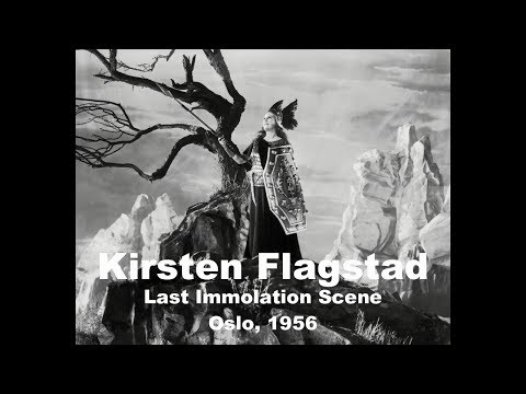 Kirsten Flagstad In Her Last 'Immolation Scene'