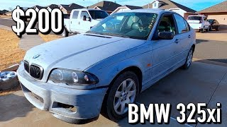 $200 BMW 325xi e46 from Copart - Does it Run and Drive? PT1