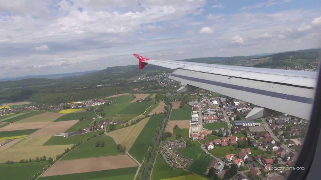 Flug Berlin-Zürich AB AirBerlin - YouTube