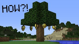 Minecraft UHC but trees drop GOLDEN APPLES...