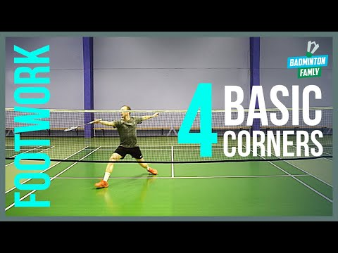 Basic FOOTWORK Badminton - 4 Corners