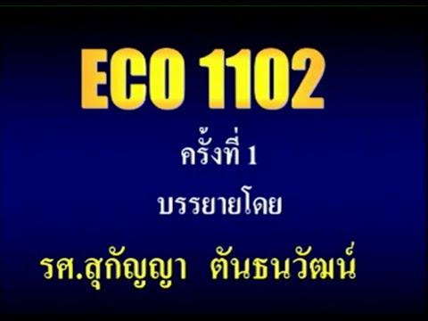 ECO1102 (5702) เศรษฐศาสตร์มหภาคเบื้องต้น บรรยายสรุป ครั้งที่ 01