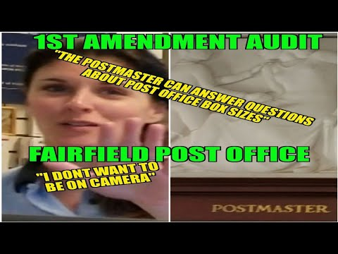 "1st Amendment Audit Fairfield Post Office ""I don't want to be on camera"""