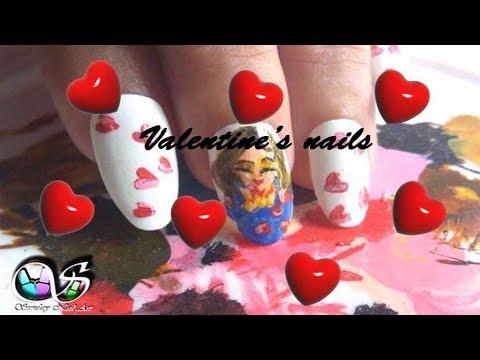Valentine's Day Nails:Heart Kisses ❤️❤️❤️