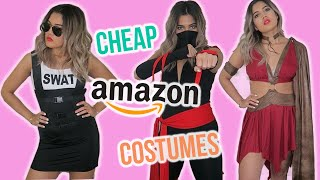 TRYING ON CHEAP HALLOWEEN COSTUMES FROM AMAZON